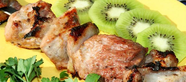 Маринование шашлыка из свинины с киви рецепт