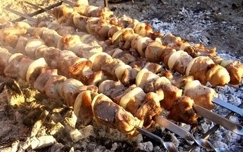шашлык из свинины по-грузински