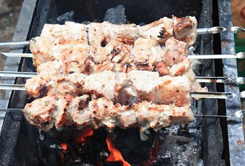шашлык из свинины за один час