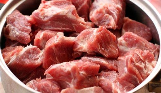 как резать мясо на шашлык фото